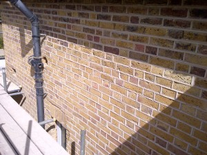 Ribbon pointing lime mortar