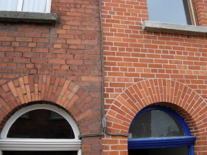 Cleaned brickwork, visible results