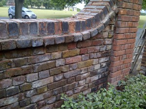 Recessed pointing using original imperial stock bricks